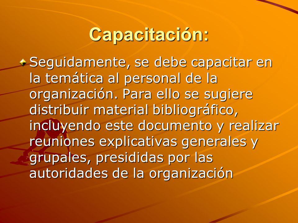 Capacitación: