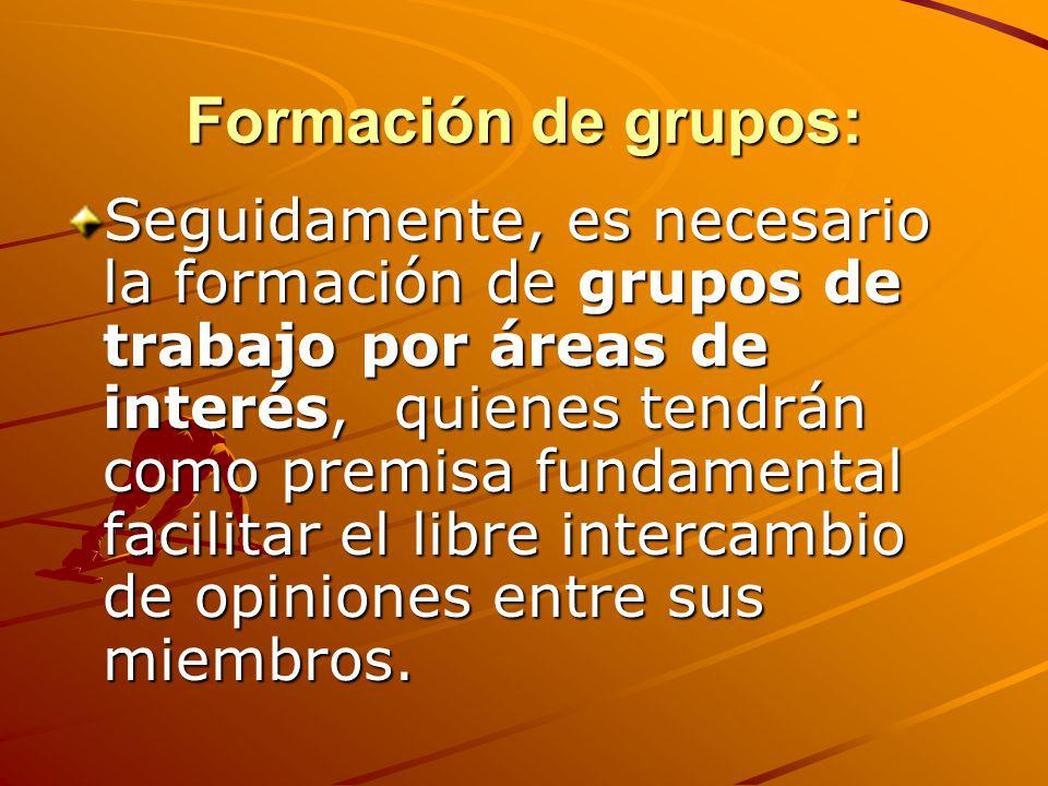 Formación de grupos: