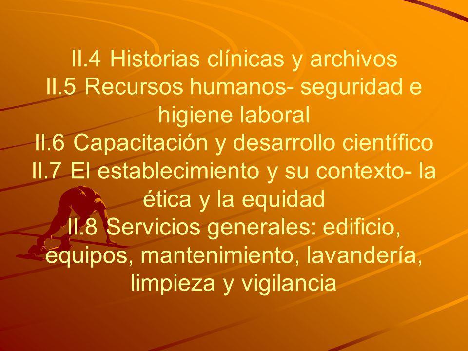 II. 4 Historias clínicas y archivos II
