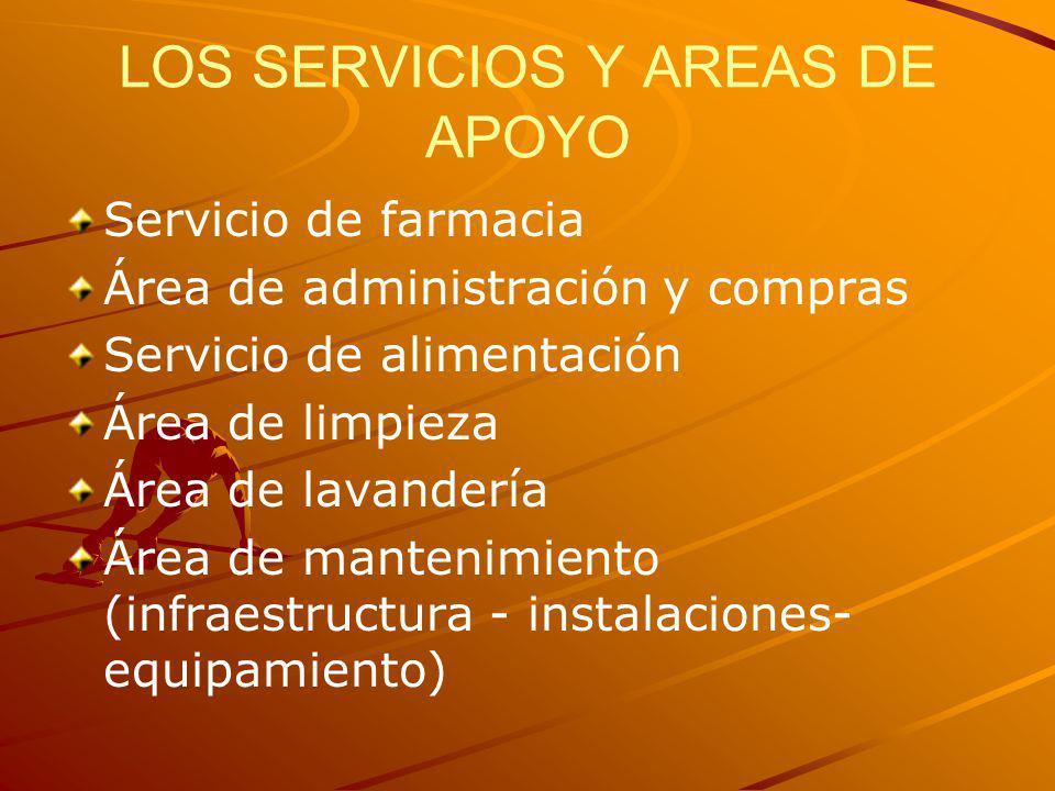 LOS SERVICIOS Y AREAS DE APOYO