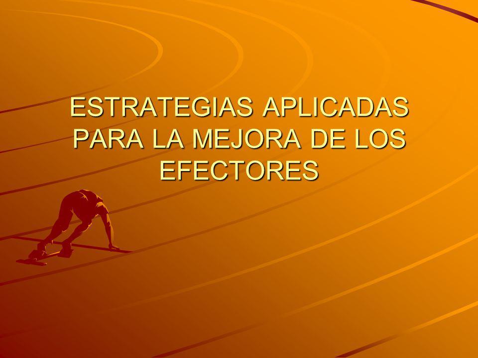 ESTRATEGIAS APLICADAS PARA LA MEJORA DE LOS EFECTORES