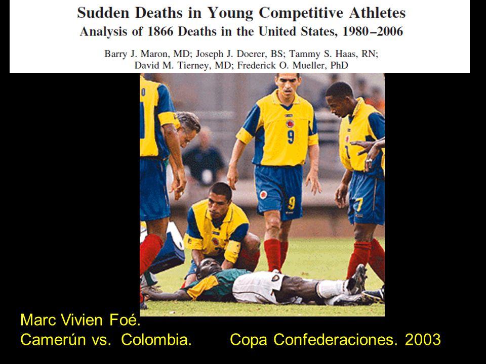 Marc Vivien Foé. Camerún vs. Colombia. Copa Confederaciones. 2003