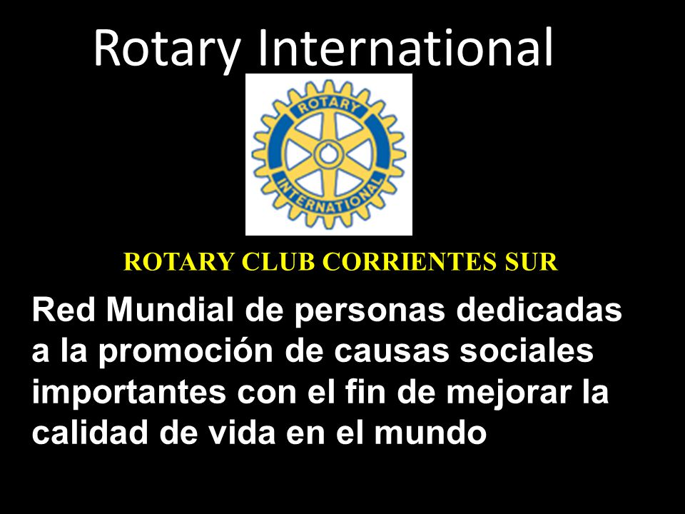 Rotary International ROTARY CLUB CORRIENTES SUR.