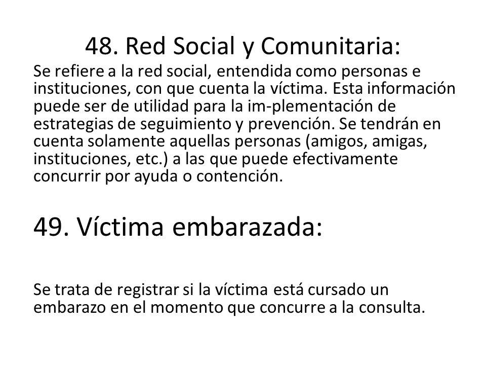 48. Red Social y Comunitaria: