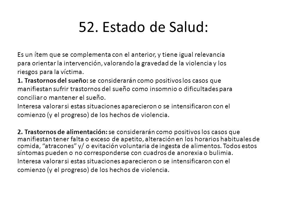 52. Estado de Salud: