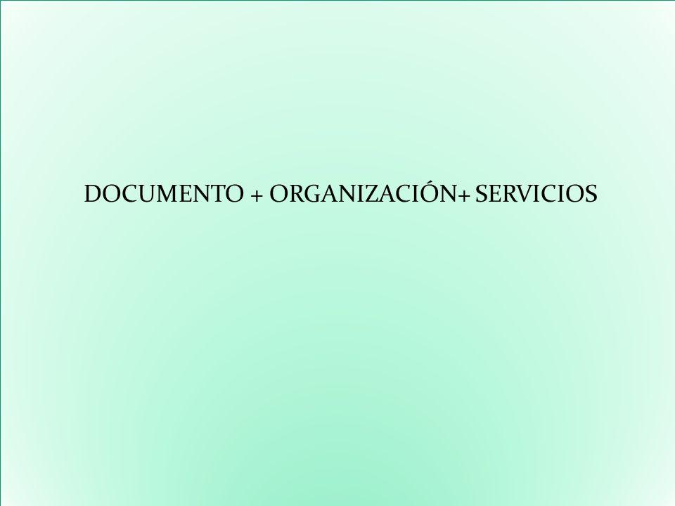 DOCUMENTO + ORGANIZACIÓN+ SERVICIOS