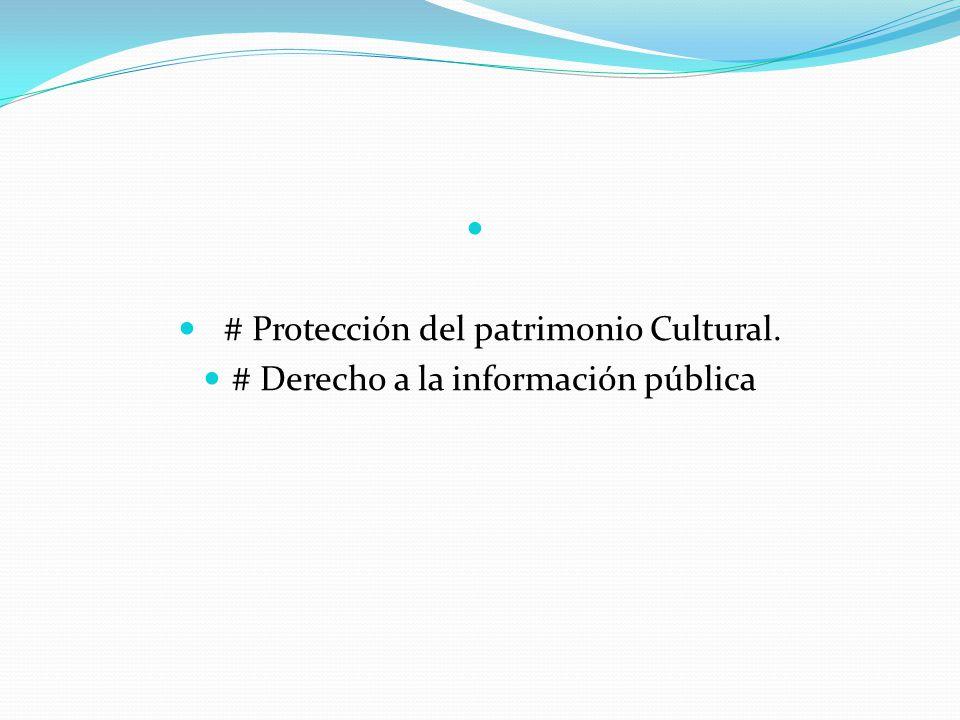 # Protección del patrimonio Cultural.