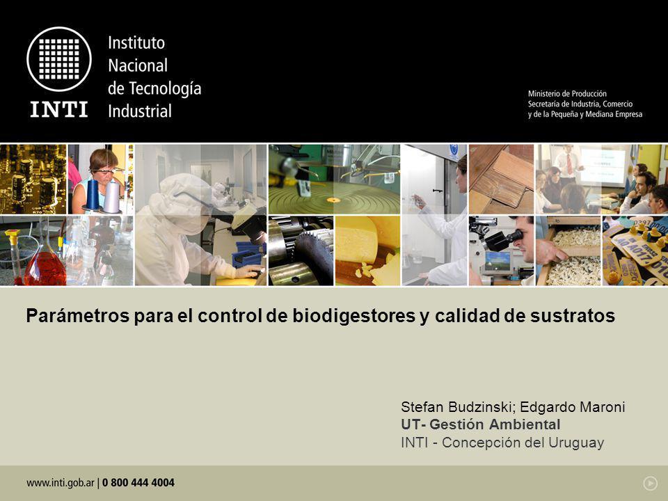 Parámetros para el control de biodigestores y calidad de sustratos