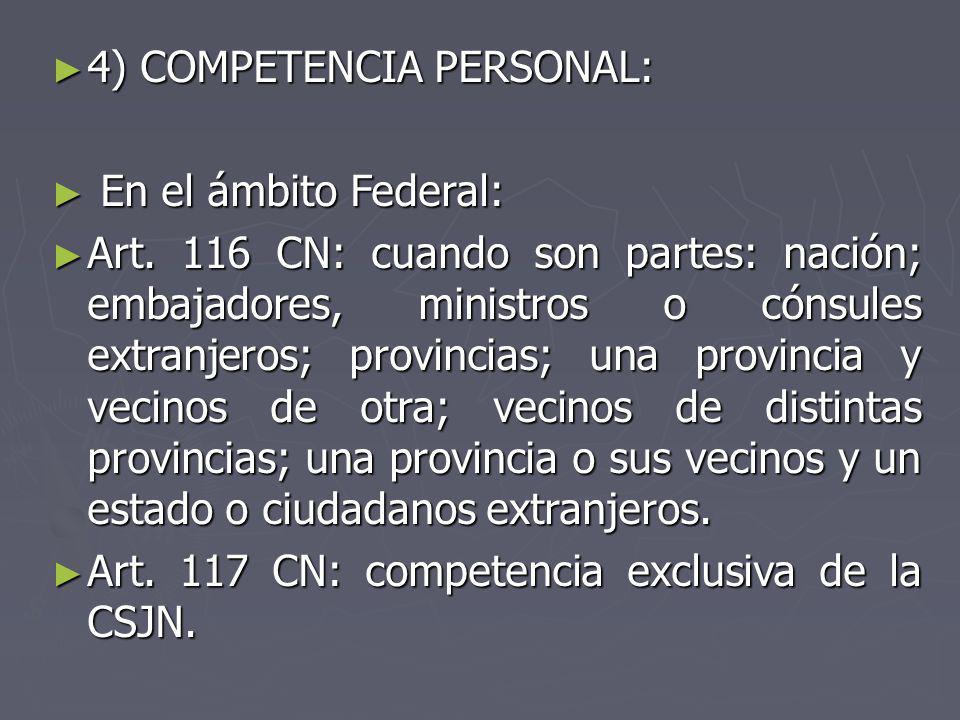 4) COMPETENCIA PERSONAL: