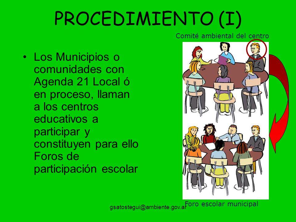 PROCEDIMIENTO (I) Comité ambiental del centro.