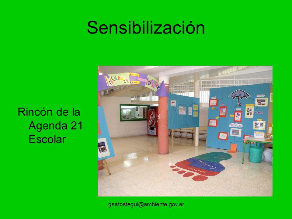 Sensibilización Rincón de la Agenda 21 Escolar