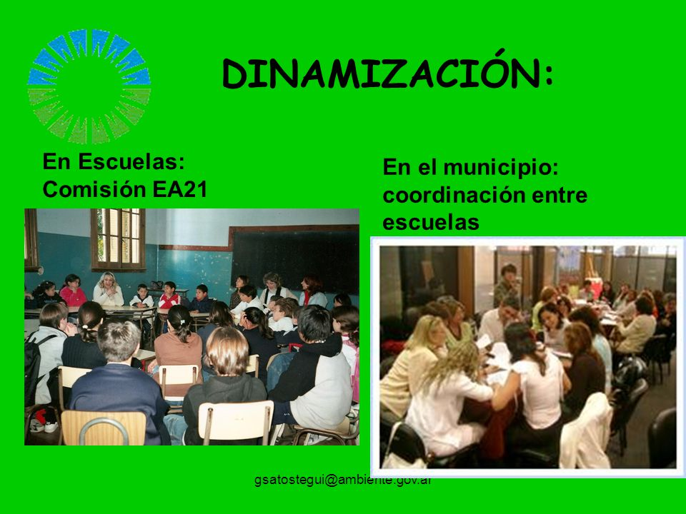 DINAMIZACIÓN: En Escuelas:
