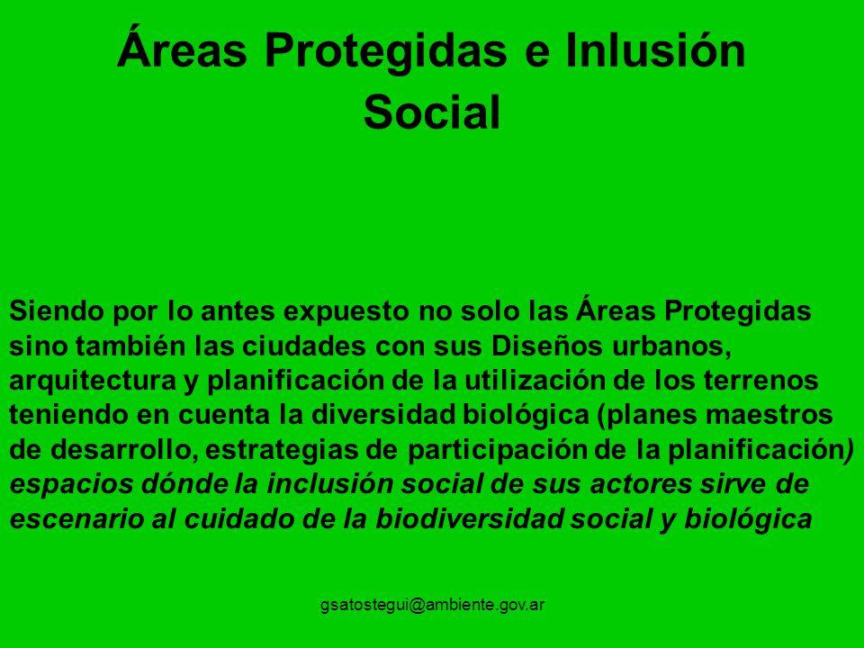 Áreas Protegidas e Inlusión Social