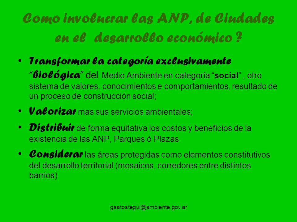 Como involucrar las ANP, de Ciudades en el desarrollo económico