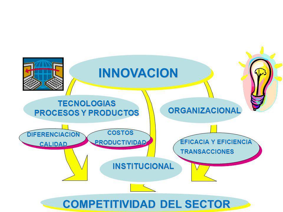 INNOVACION COMPETITIVIDAD DEL SECTOR TECNOLOGIAS PROCESOS Y PRODUCTOS