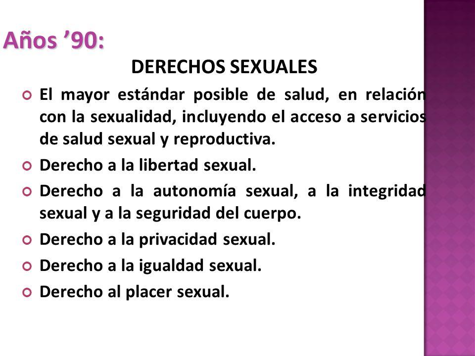 Años '90: DERECHOS SEXUALES