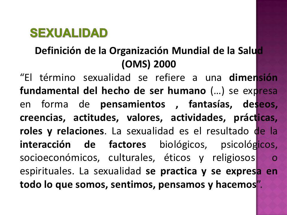 Definición de la Organización Mundial de la Salud (OMS) 2000