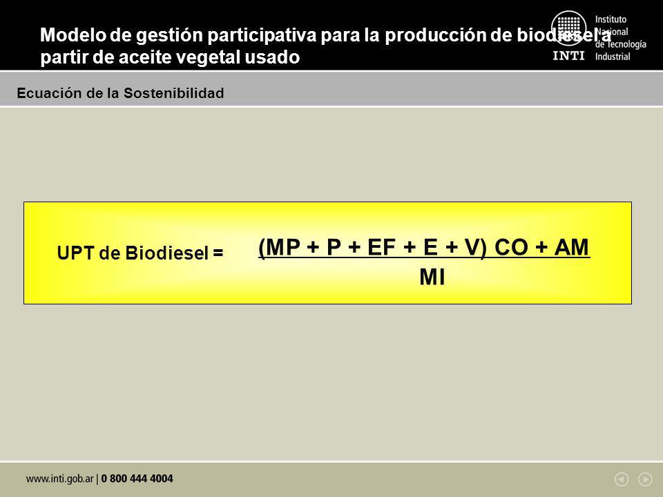 (MP + P + EF + E + V) CO + AM MI