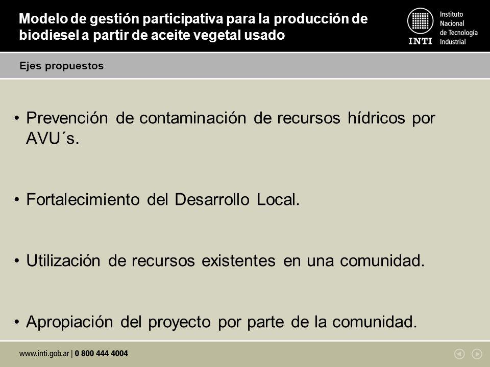 Prevención de contaminación de recursos hídricos por AVU´s.