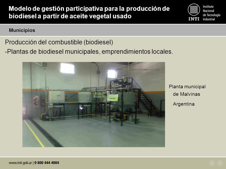 Producción del combustible (biodiesel)