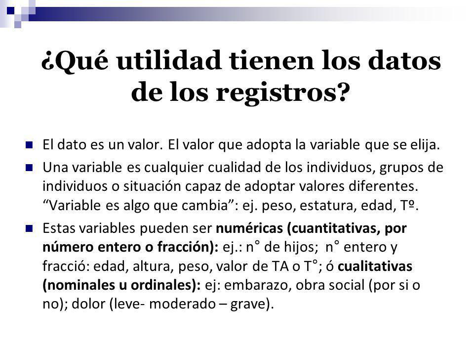 ¿Qué utilidad tienen los datos de los registros