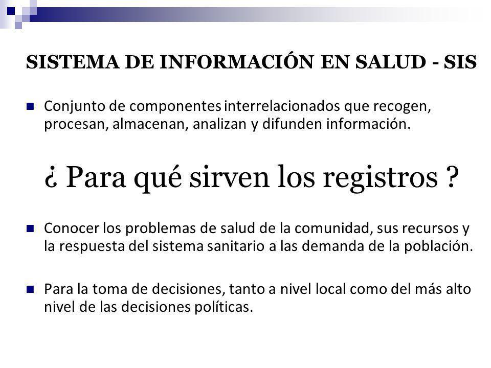 SISTEMA DE INFORMACIÓN EN SALUD - SIS