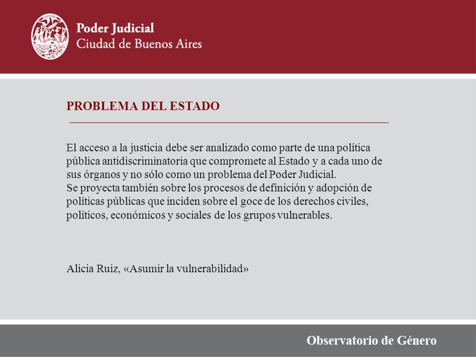 PROBLEMA DEL ESTADO