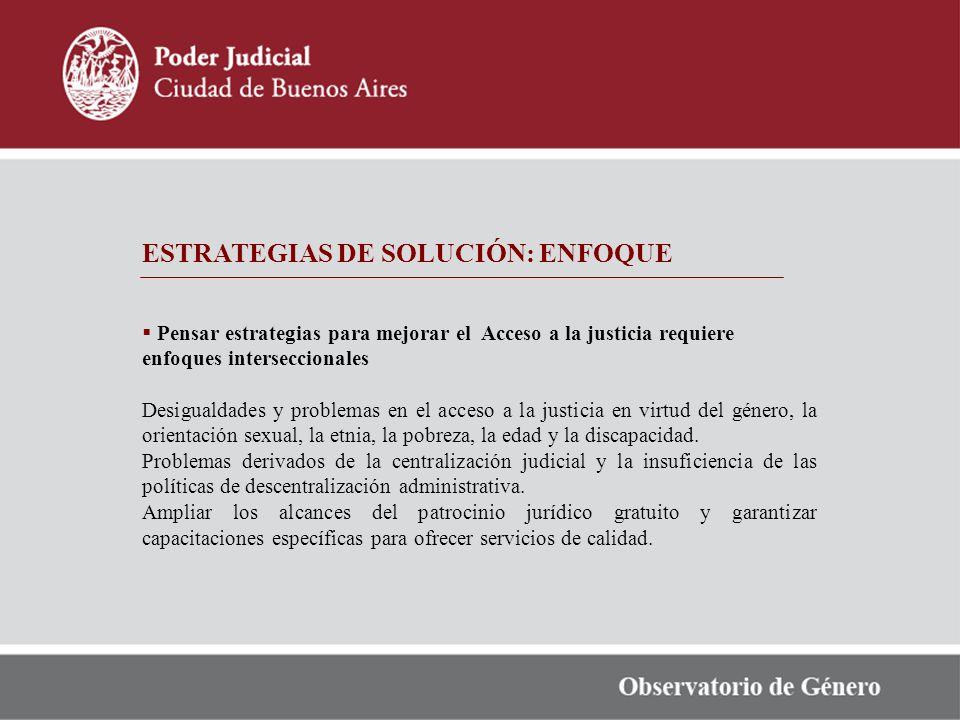 ESTRATEGIAS DE SOLUCIÓN: ENFOQUE