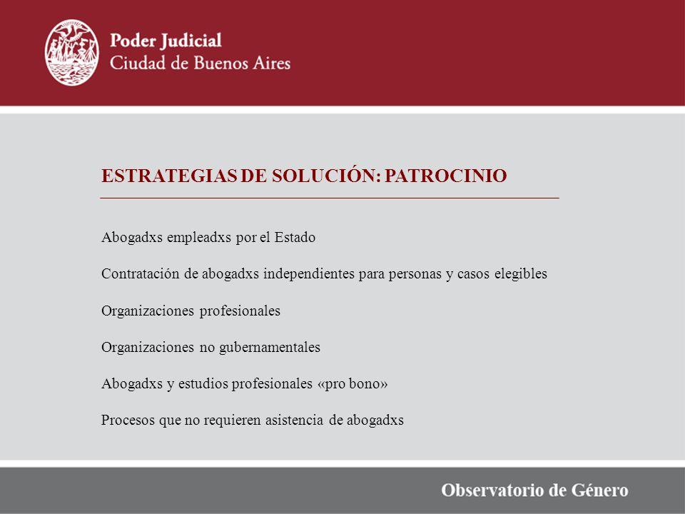 ESTRATEGIAS DE SOLUCIÓN: PATROCINIO