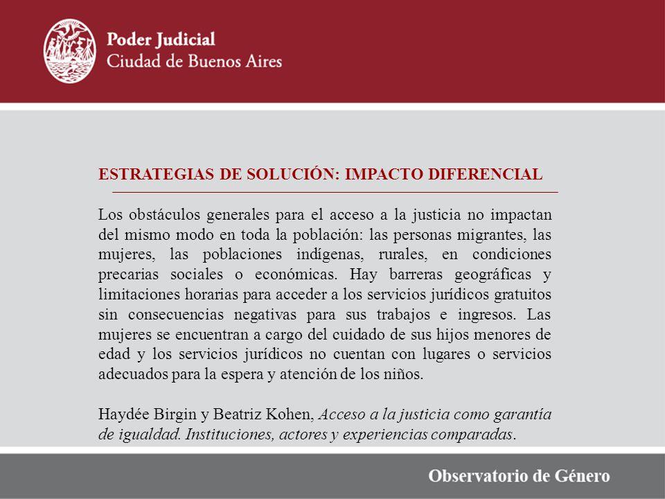 ESTRATEGIAS DE SOLUCIÓN: IMPACTO DIFERENCIAL