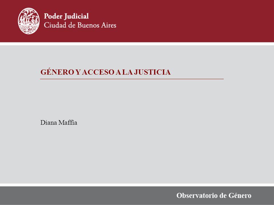 GÉNERO Y ACCESO A LA JUSTICIA