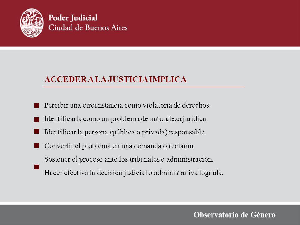 ACCEDER A LA JUSTICIA IMPLICA