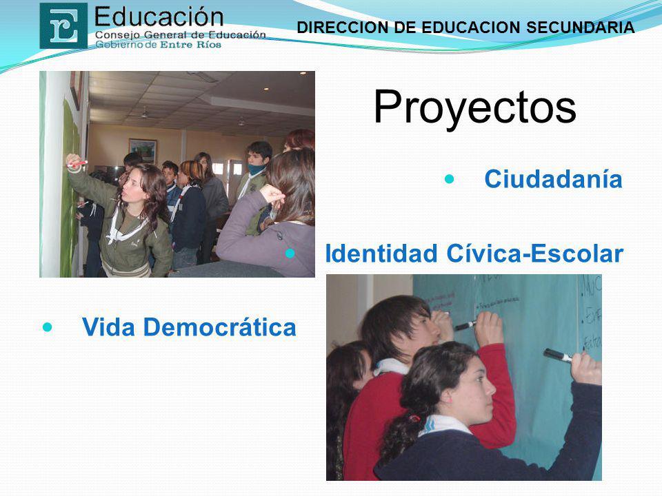 Proyectos Ciudadanía Identidad Cívica-Escolar Vida Democrática