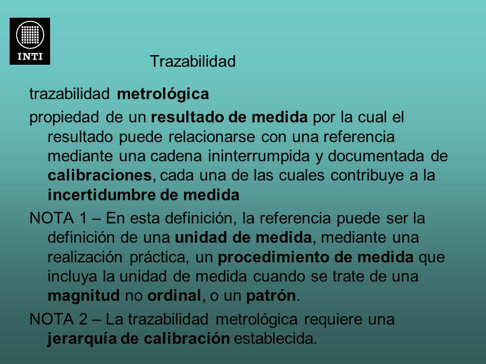 Trazabilidad trazabilidad metrológica.