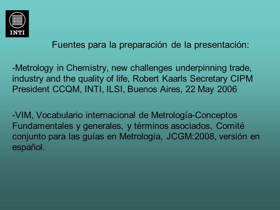 Fuentes para la preparación de la presentación: