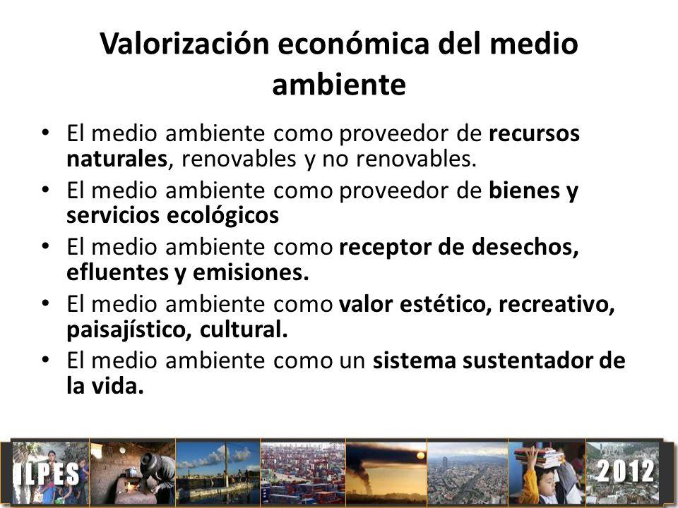 Valorización económica del medio ambiente