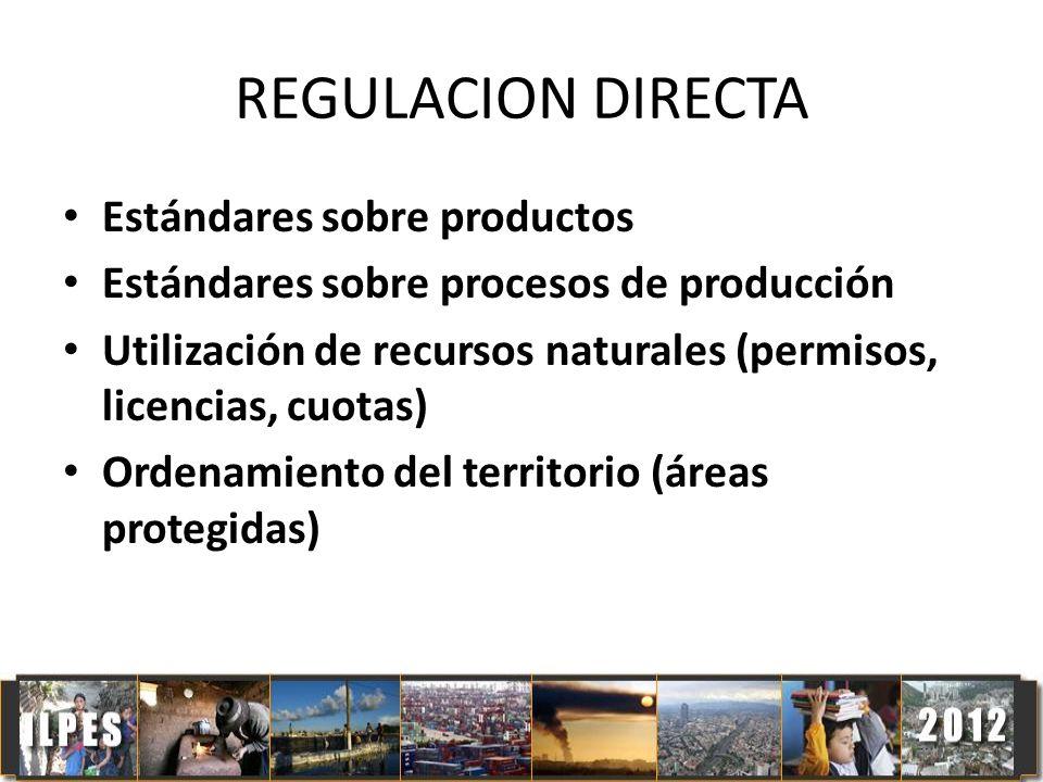 REGULACION DIRECTA Estándares sobre productos