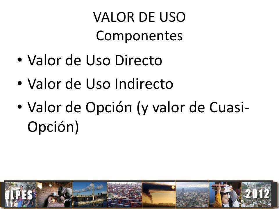 VALOR DE USO Componentes