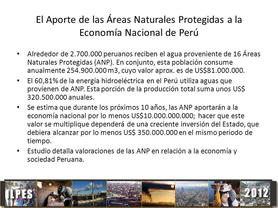 El Aporte de las Áreas Naturales Protegidas a la Economía Nacional de Perú