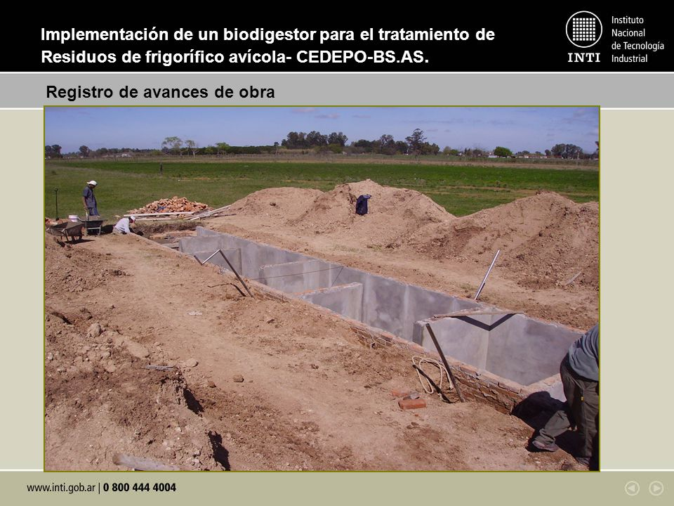 Implementación de un biodigestor para el tratamiento de Residuos de frigorífico avícola- CEDEPO-BS.AS.