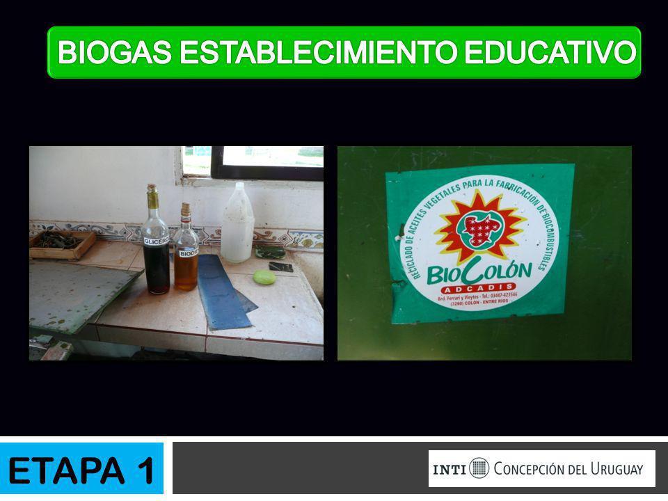 BIOGAS ESTABLECIMIENTO EDUCATIVO