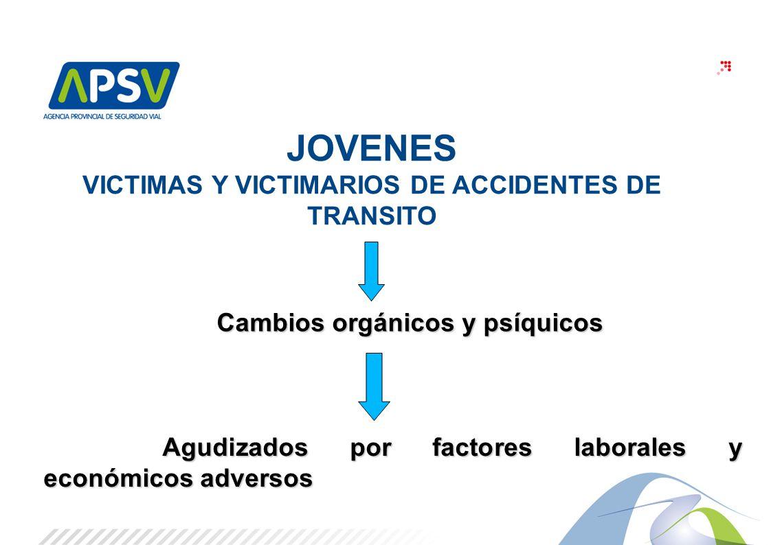 JOVENES VICTIMAS Y VICTIMARIOS DE ACCIDENTES DE TRANSITO