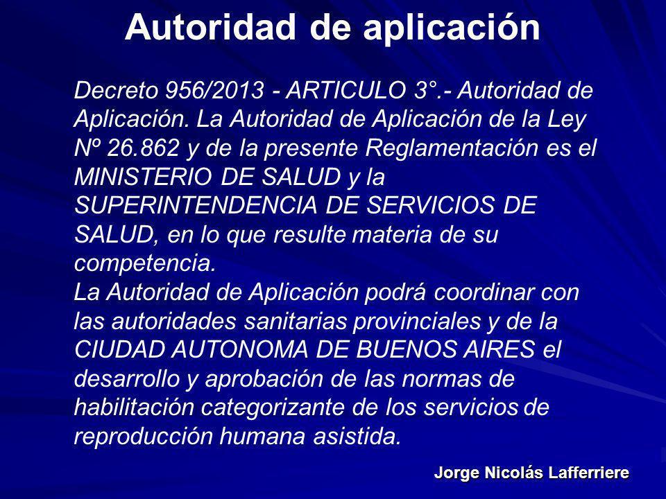Autoridad de aplicación
