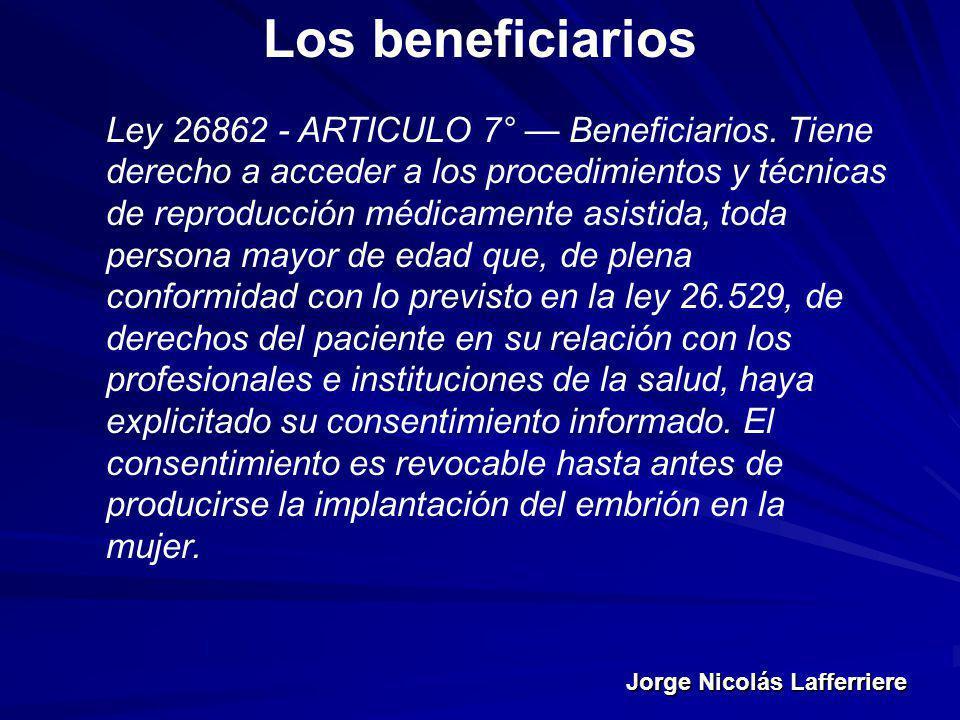 Los beneficiarios