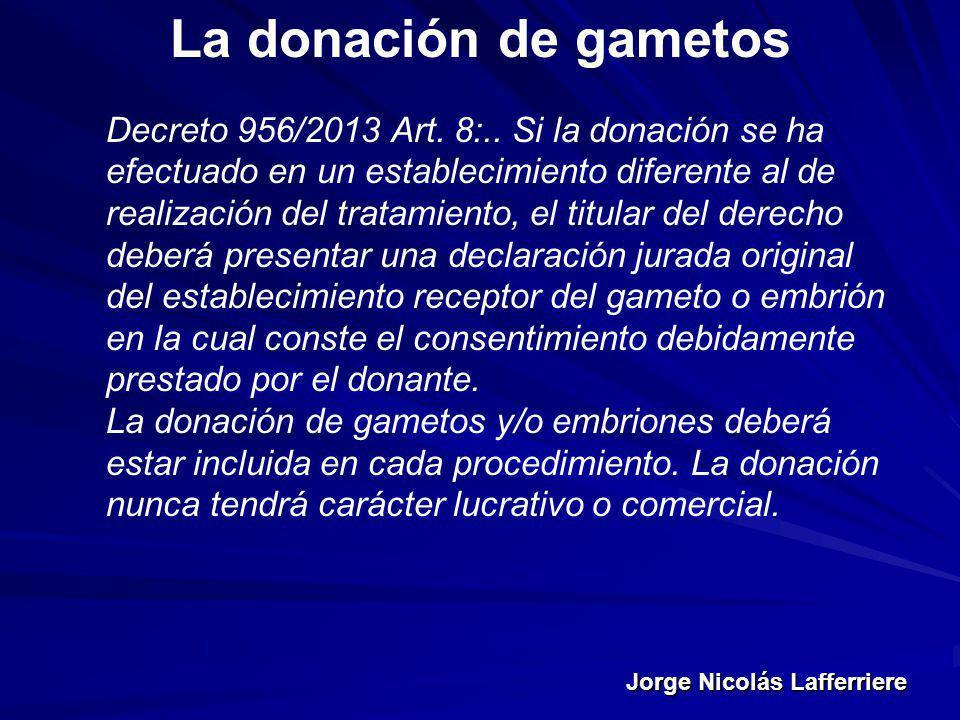 La donación de gametos