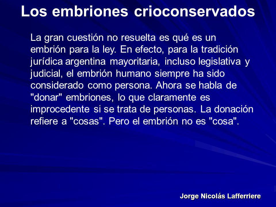 Los embriones crioconservados