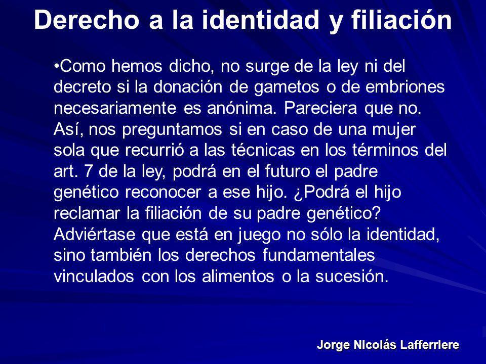 Derecho a la identidad y filiación