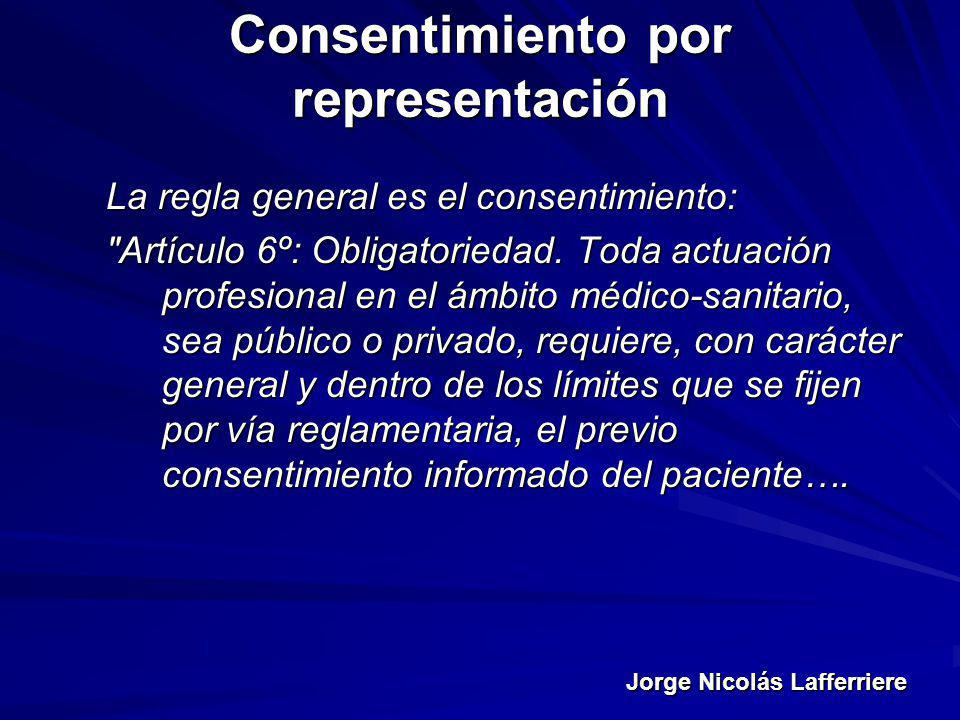 Consentimiento por representación