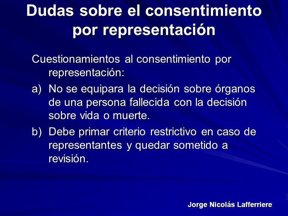 Dudas sobre el consentimiento por representación