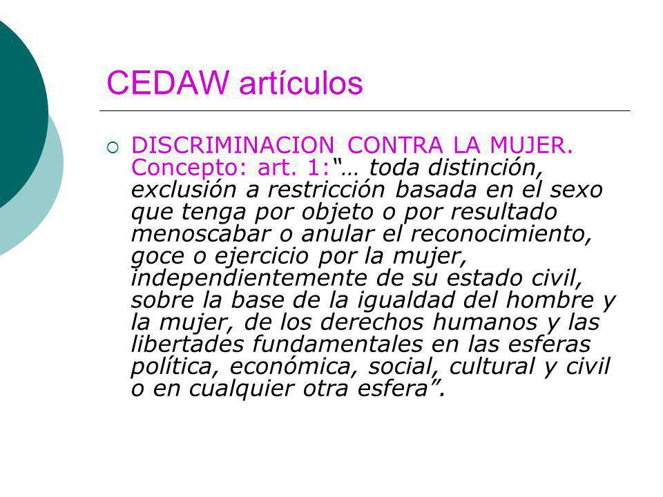 CEDAW artículos